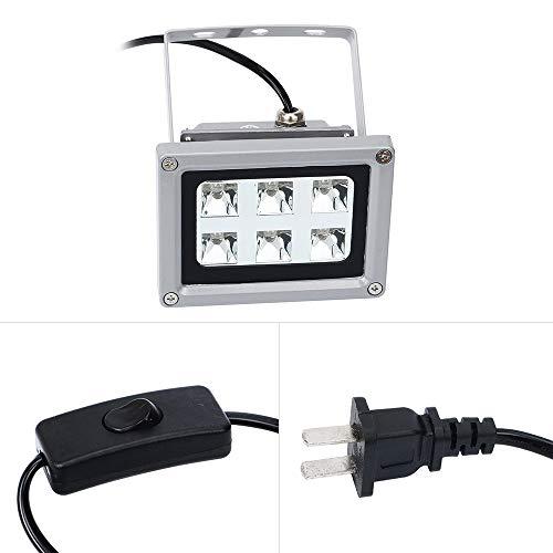QKP UV-Harz-Lichthärtelampe Für SLA/DLP 3D-Druckerzubehör Verfestigen Lichtempfindliches Harz 6pcs 405nm UV-LED-Lichter Mit 60W Leistung Beeinflusse