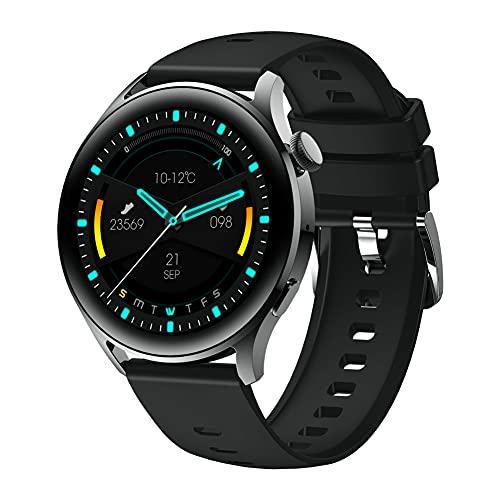 Reloj Inteligente para teléfonos Android Samsung iPhone Compatible Reloj Impermeable Teléfono Celular Pantalla táctil Rastreador de Ejercicios Podómetro Monitor de sueño para Hombres y Mujeres, Pago