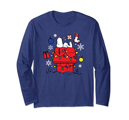 Peanuts Weihnachten Snoopy Träumen Langarmshirt