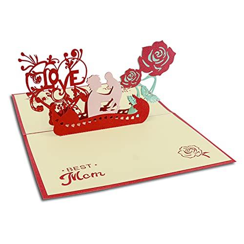 Geburtstagskarte Pop Up, Muttertagsgrußkarte, Happy Birthday Karte, Geburtstagskarte 3d, Geschenk für Mama