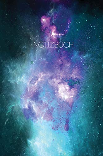 Notizbuch: Blanko  Journal A5 Liniert Galaxy Weltall Sterne