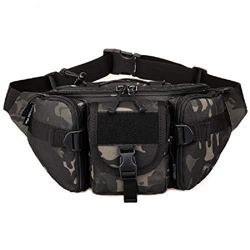 YFNT Tactical Marsupio Portatile Marsupio da Esercito Outdoor Marsupio Militare Marsupio per Ciclismo Campeggio Escursionismo Caccia Pesca (Night Camouflage)