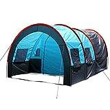 ZHJLOP Tente 5-10 Personnes Grande Double Couche Tunnel Tente Camping en Plein air fête de Famille randonnée randonnée pêche Tente Touristique Maison