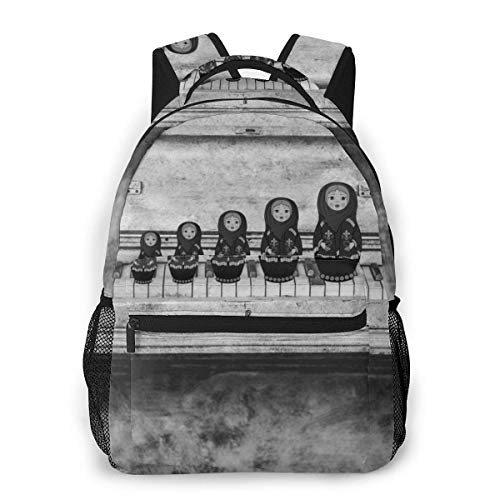 Lawenp Mode Unisex Rucksack Old Piano Keyboards Bookbag Leichte Laptoptasche für Schulreisen Outdoor Camping