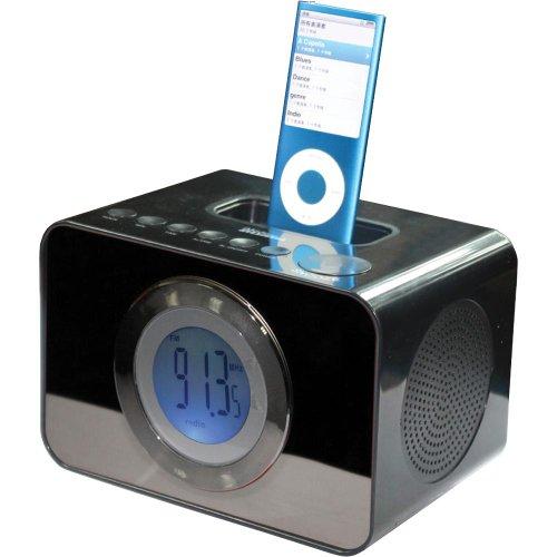 Sylvania Dock and Clock Radio for iPod (Black)