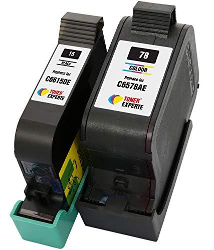 TONER EXPERTE® 2er Set Druckerpatronen kompatibel für HP 15 78 C6615DE C6578AE PSC 2120 700 720 750 760 900 950 Officejet 5110 V30 V40 V45 Deskjet 3810 3820 815c 916c 920c 940c 948c | hohe Kapazität