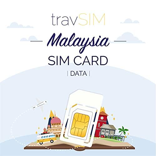 travSIM - Tarjeta SIM Prepaga Malasia(SIM de Datos para-Malasia) - 10GB de...