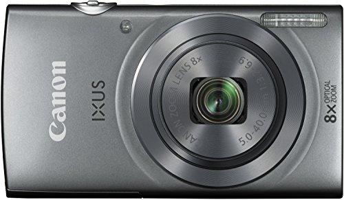 Canon IXUS 160 Digitalkamera (20 MP, 8-fach optisch, Zoom, 16-fach ZoomPlus, 6,8cm (2,7 Zoll) LCD-Display, HD-Movie 720p) silber