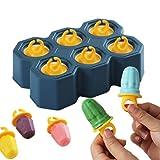 Orapink Moldes de silicona para helados, moldes de helado, mini paletas de anillo de diamante, juego para hacer paletas con certificado LFGB sin BPA, para bebés y niños