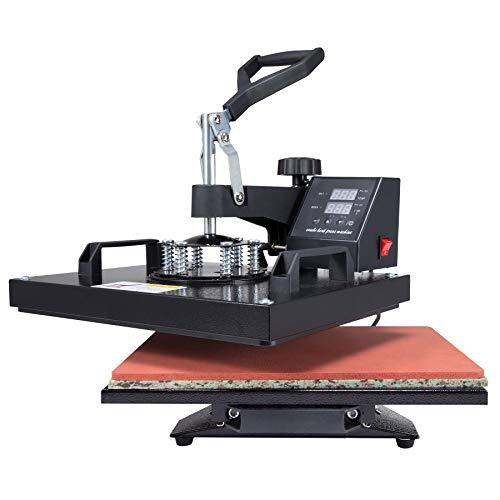 Valens Hitzepressemaschine 38x30cm Heißpresse Textilpresse Transferpresse Heat Press Mulitifunktional Sublimation Wärmepresse Maschine druckmaschine 360-Grad-Drehung T-Shirtpresse