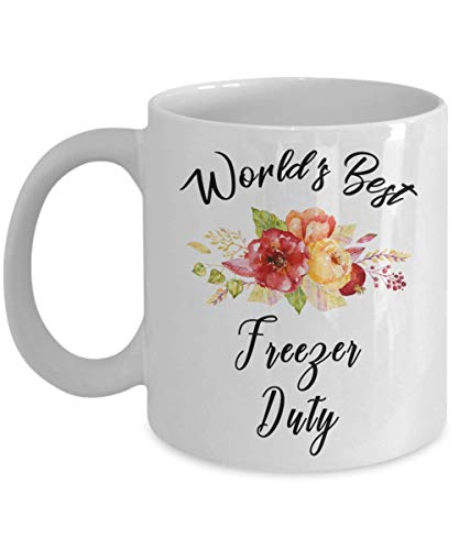Freezer Duty Mug - World's Best - Funny Novelty Ceramic Coffee & Tea Cup Cool Gifts For Men Or Women With Gift Box