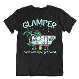 Zelten Außen Trip T Shirt Vintage Geschenk Süß Lustig Außen Frisch Glamper Men T Shirt 100% Cotton Sleeve Shirt Black XXL