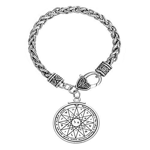 LH&BD Anzuelo rápido Sello de Salomón Lados Dobles geométrica de la Estrella de David runas de Viking Supernatural Mujeres y Hombres Pulsera