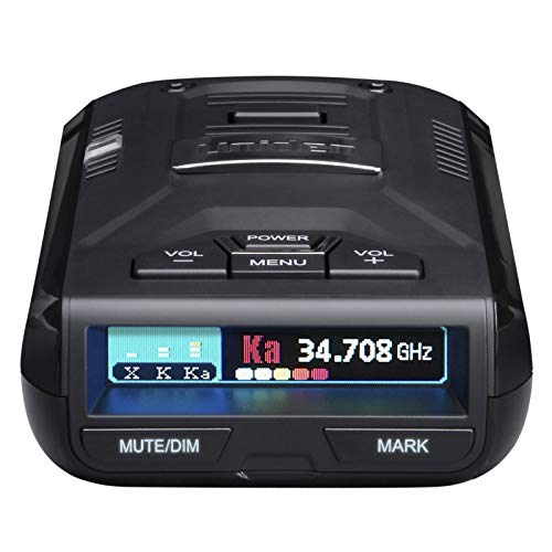 UNIDEN R3 EXTREME LONG RANGE Laser/Radar Detector, Record Shattering Performance, Built-in GPS w/ Mute Memory, Voice Alerts, Red Light & Speed Camera Alerts, Multi-Color OLED Display