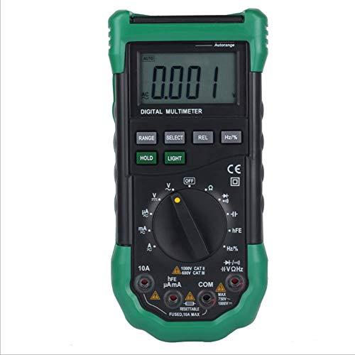 WY-YAN Multímetro digital portátil Rango automático voltímetro multiuso probador del medidor de energía Preciso