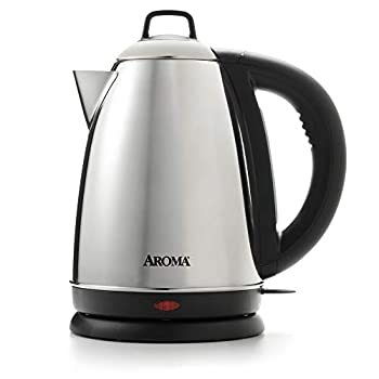 Aroma Housewares Hot H20 X-Press 1.5 Liter  6-Cup  Cordless Electric Water Kettle Stainless Steel