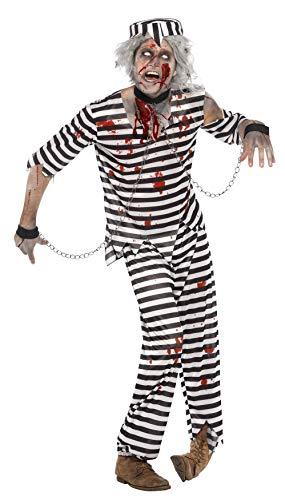 Smiffys Costume condamné zombie, avec haut, pantalon, chapeau & revers chaînes
