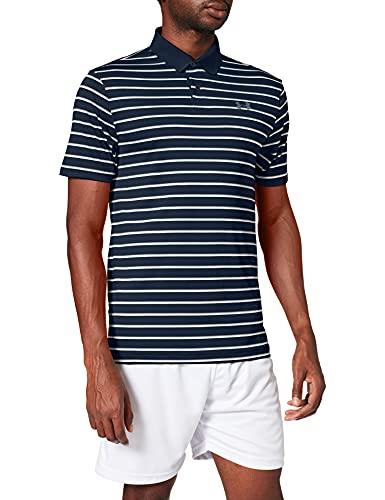 Under Armour Men's Performance 2.0 Novelty Golf Polo , Academy Blue (409)/Pitch Gray , Medium