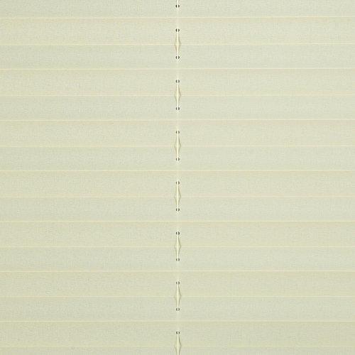 Liedeco® Klemmfix-Plissee freihängend inkl. Halterungen zur Wand- oder Deckenmontage 80 x 175 cm beige/lichtdurchlässig, Blickdicht, verstellbar / 123 montiert/Sicht-, Sonnen-, Blendschutz