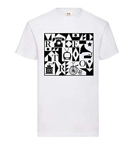 Retro mannen T-shirt - shirt84.de