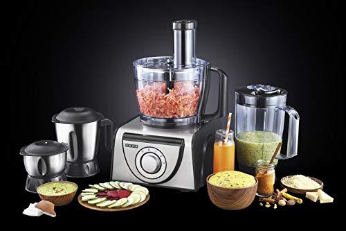Usha FP 3810 Food Processor 1000-Watt Copper Motor with 13 Accessories(Premium SS...