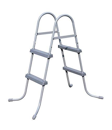 BEST.WAY - Escalera de Piscina para Exteriores, Altura de 84 33 Estructura de Metal 58430