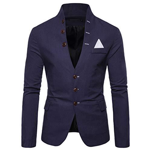 Coversolate Sakko Herren Blazer Stehkragen Anzugjacke Freizeit Business Mantel für Business Hochzeit Abschlussfeier Party