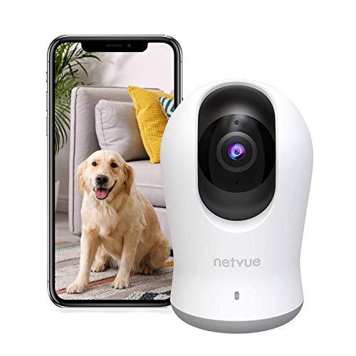 NETVUE Überwachungskamera Innen WLAN, 2K 3MP IP Kamera Indoor, Schwenkbare Kamera mit Alexa, Babyphone mit Kamera Bewegungserkennung 1080P IP Kamera WLAN Innen mit 2-Wege-Audio und Nachtsicht