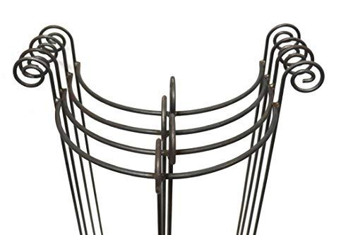 Hirsch Terracotta 4X Staudenhalter halbrund stabil Breite 55cm Höhe 90cm Vollmaterial Rankhilfe, Pflanzstätte, Rankgitter