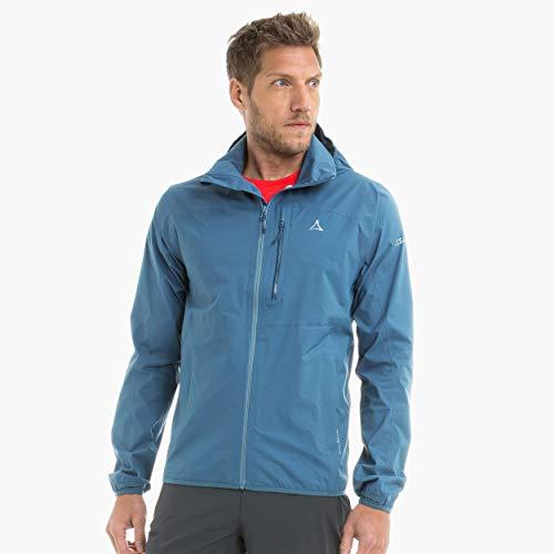 Schöffel Herren Jacket Toronto4 wind- und wasserdichte Herren Jacke mit verstaubarer Kapuze, atmungsaktive und verstaubare Hardshelljacke für Männer, mehrfarbig (bering sea), 50
