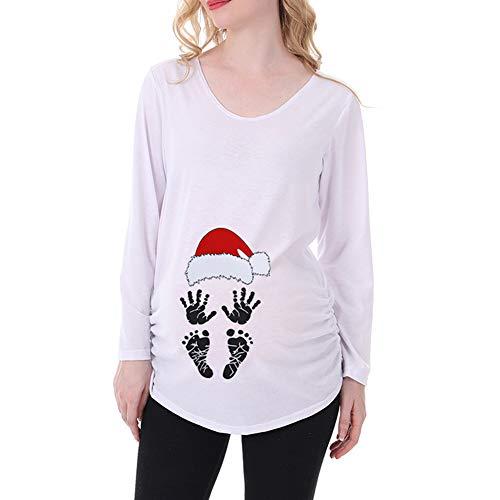 ManMan Baby 's 1st Christmas - Camiseta de maternidad para mujer