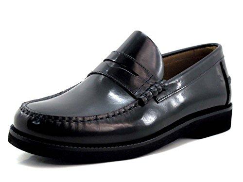 Fluchos   Mocasín de Hombre   Stamford F0047 Florentick Negro Zapato de Vestir   Mocasín de Piel de Vacuno de Primera Calidad   Cierre con   Piso de Goma Personalizado