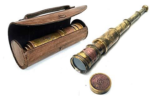 Scout Regiment Messing-Teleskop 48,3 cm London 1940 Broadhurt Clarkson Antike Nachbildung Spyglass Scope High Resolution DF Lens Brilliant Vergrößerung