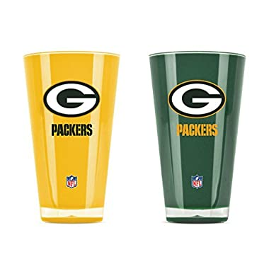 Duck House NFL Green Bay Packers 20oz Insulated Acrylic Tumbler Set of 2