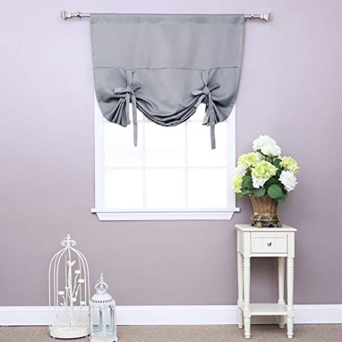 home fashion shades Best Home Fashion Premium Thermal Insulated Blackout Tie-Up Window Shade - Grey - 42