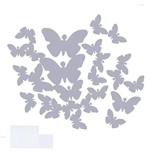 Haowecib Calcomanías Luminosas, Pegatina de Mariposa Segura y Duradera, Pegatina de Pared con función Luminosa, Arte de Pared Desmontable para Decoraciones de Interior