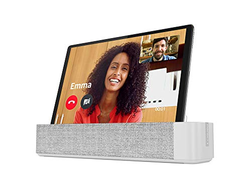 Lenovo Smart Tab M10 Full HD Plus mit Amazon Alexa 26,18 cm (10,3 Zoll, 1920x1200, Full HD, WideView, Touch) Tablet-PC (Octa-Core, 4GB RAM, 64GB eMCP, Wi-Fi, Android 10) silber mit Smart Dock