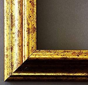 Artecentro Cornice Dorata per Quadri - Oro/Colore con o Senza passepartout in Legno-Varie Misure (Oro, 30x40)