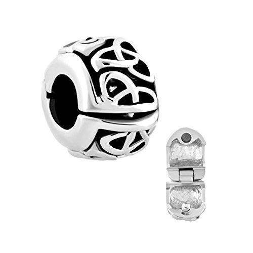LovelyCharms Celtic Flower Clip Lock Spacers Stopper Charm Beads For Bracelets