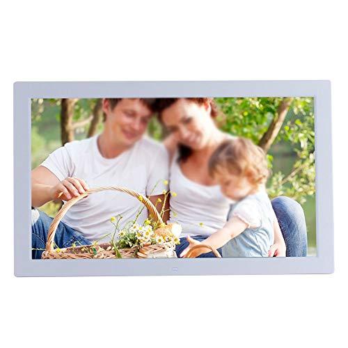 Digitaler Fotorahmen 19 Zoll Digitaler Bilderrahmen 1366 * 768 Pixel Hochauflösender LED-Bildschirm 1080P HD-Videowiedergabe USB- und SD-Kartensteckplätze Fernbedienung inklusive 2 Farben Bestes Gesch