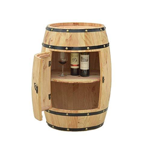 YANGYUAN Barril de Roble Bodega decorado barril de cerveza de madera del barril de vino barra de madera de la botella del estante y Pantalla de Cristal estante del gabinete de almacenamiento de madera