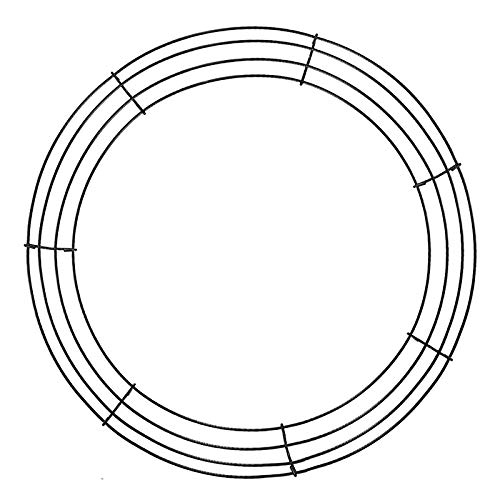 æ—  3PCS Wire Wreath Rings Metal Wire Wreath Rings Wire Frame Perfect for Crafts Floral and Flower Design Metal Wreath Ring,35 CM