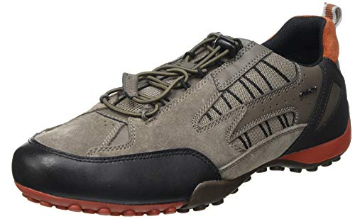Geox Herren Uomo Snake A BC Sneaker, Dove Grey, 41 EU