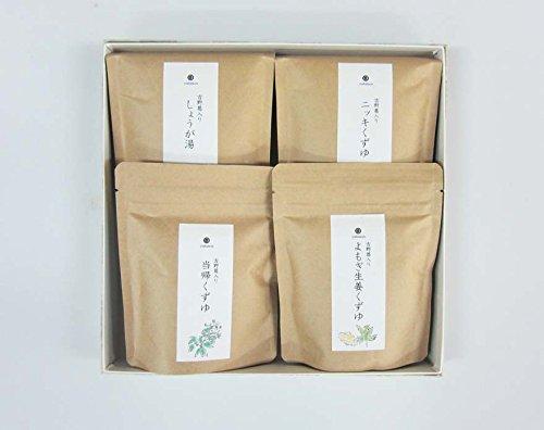奈良 吉野 シモイチ 薬膳 計画 くずゆ セット 当帰くずゆ よもぎ生姜くずゆ ニッキくずゆ しょうが湯 詰合せ ギフト ラッピング 対応可