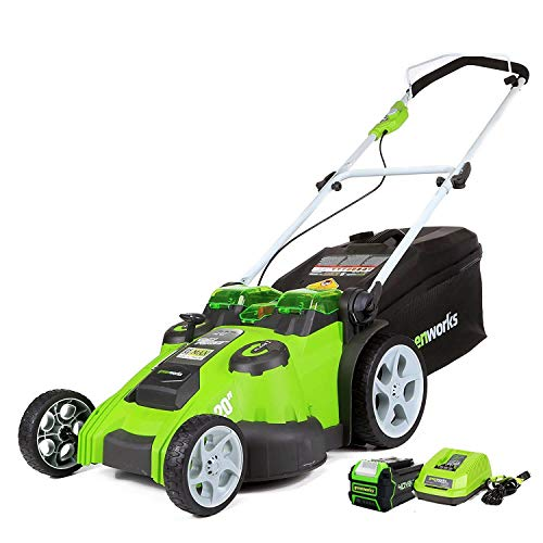 Greenworks 40V 20-Inch Cordless Twin Force Lawn Mower, 5Ah Battery and Charger...
