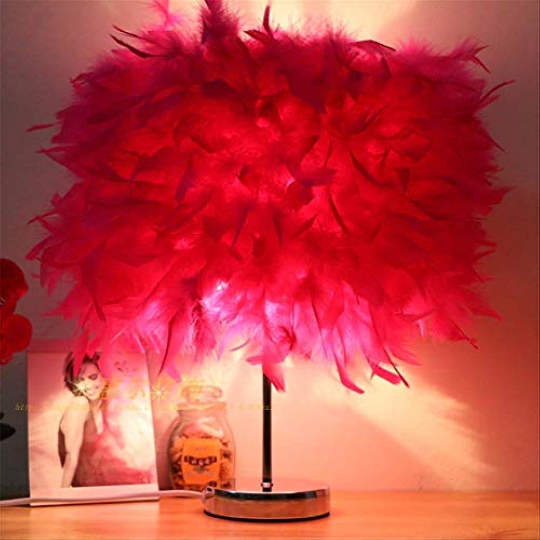 CWJ Lampe-Schreibtisch lampsantique tischlampen kristall Feder licht LED Schlafzimmer nachttischlampe schreibtischlampe arbeitende Kinder Lesen dekorative Leuchten tischlampe