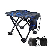 FantasyBear Small Folding Chair,Portable Lightweight Waterproof 600D Oxford Outdoor Folding Chair for Camping Fishing Travel Hiking Picnic Beach Quickly Fold Chair Stool (Blue)