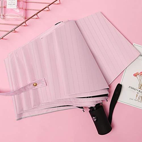 DJMJHG Paraguas Plegable Completamente automático para Mujer con Cierre automático para Hombre...