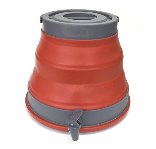 SAMMART 12.5L Tragbarer Wasserträger, zusammenklappbarer Wasserbehälter, Notwürfel-Wasserträger, Wasserspeicher im Freien für Camping Wandern Klettern Rucksackreisen (Terrakotta)
