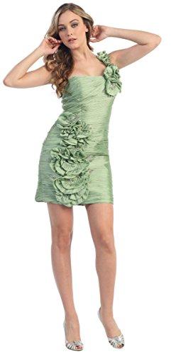 Nachtigall+Lerche One-Shoulder Cocktail-Kleid sexy kniefrei Minikleid Partykleid Abiballkleid...